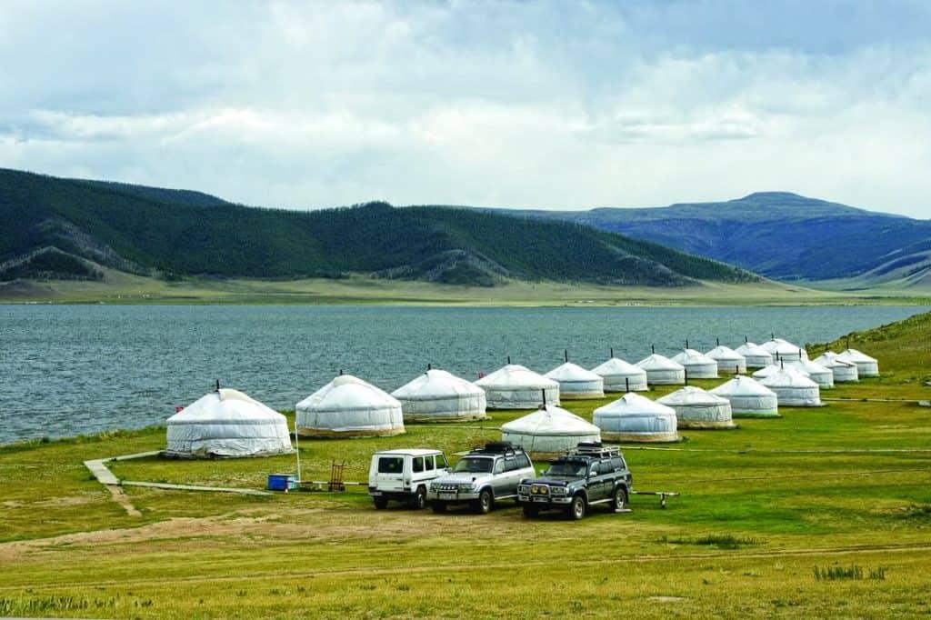 Ger Camp at the White Lake