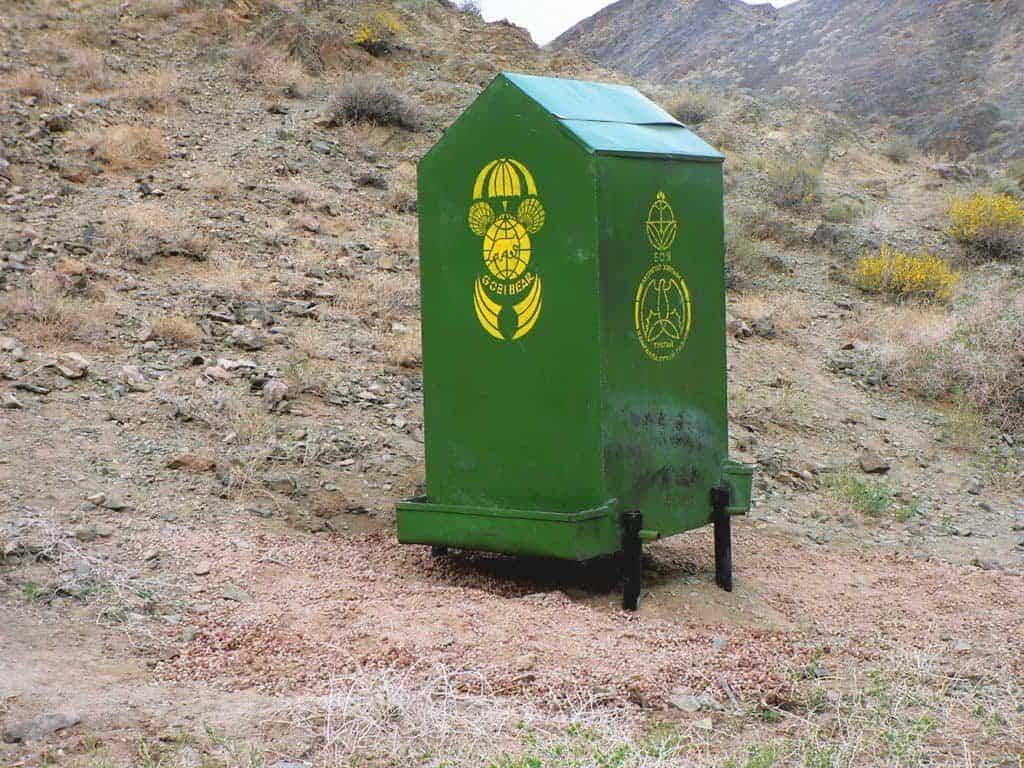 Futterstelle für Gobi Bären (Maazalai)